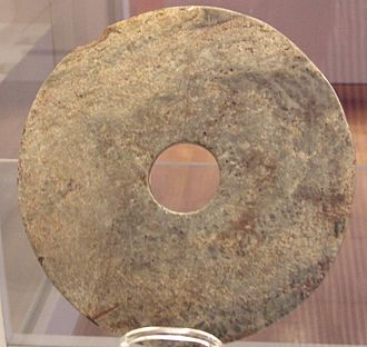 Bi (jade) - Bi disc from the Liangzhu culture (Museum Angewandte Kunst, 2006)