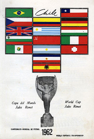 FIFA World Cup Trophy - Poster for the 1962 FIFA World Cup featuring the Jules Rimet Trophy.