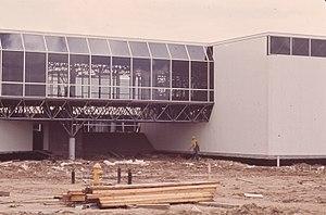 Caudill Rowlett Scott - Fodrea Community School, designed by Caudill, Rowlett, and Scott, during construction