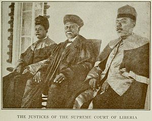 Supreme Court of Liberia - Chief Justice during 1910