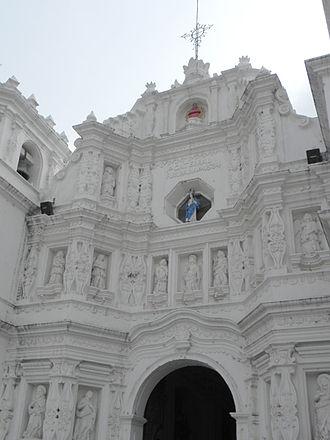 Santiago de los Caballeros de Guatemala - Facade of the Spanish colonial church at Ciudad Vieja