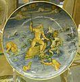 Faenza, bottega di virgiliotto calamelli, nettuno che calma le acque, (da raffaello), 1540-60 ca..JPG