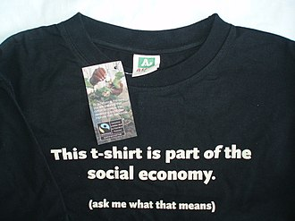Fairtrade certification - A T-shirt made from Fairtrade certified cotton