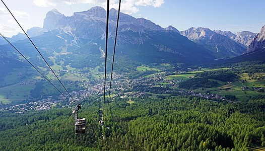 Faloria cable car, Cortina d'Ampezzo, Italy.
