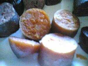 Farinheira - Farinheira, cooked and sliced