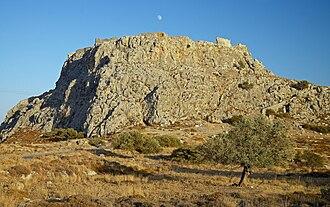Feraklos Castle - Image: Feraklos Castle Haraki Rhodes W
