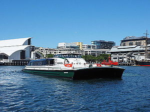 Sydney RiverCat - Image: Ferry Dawn Fraser in Darling Harbour December 2014