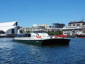 Sydney RiverCat - Image: Ferry Dawn Fraser in Darling Harbour December 2014