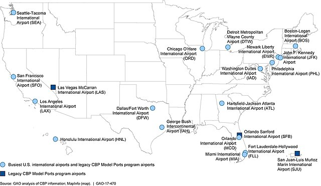 File:Figure 2- Map of the 17 Busiest U.S. International Airports and ...