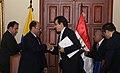 Firma de convenios entre Ecuador y Egipto. Canciller Falconí y Asistente de la Cancillería Egipcia para las Américas, Hisham El-Zimaity suscriben (4173999481).jpg