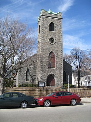 Nathaniel Jeremiah Bradlee - Image: First Churchof JP