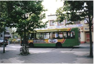 South Wales Transport - Plaxton Pointer bodied Dennis Dart bus on a  First Cymru service in 2000