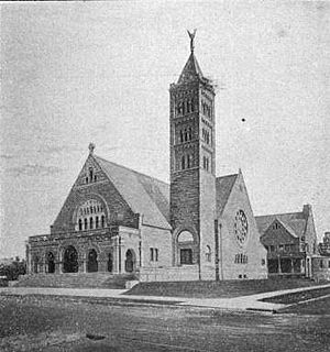 First Congregational Church (Detroit, Michigan) - Image: First Congregational Church Detroit MI 1899