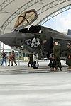 First F-35B Lightning II arrives at MCAS Beaufort 140717-M-UU619-827.jpg