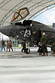 First F-35B Lightning II arrives at MCAS Beaufort 140717-M-UU619-827.jpg