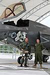 First F-35B Lightning II arrives at MCAS Beaufort 140717-M-UU619-858.jpg