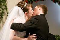 First Kiss - They saved it for their wedding day.jpg