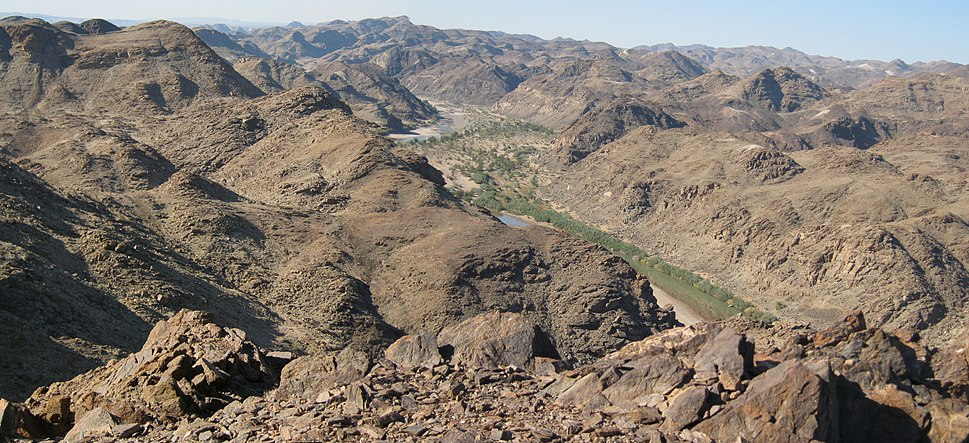 Fish River Canyon - Last stretch of hike