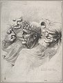 Five grotesque heads, including an elderly man with an oak leaf wreath MET DP808137.jpg