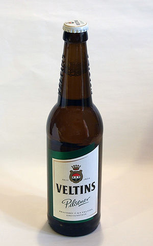 Bottle of Veltins (German beer)