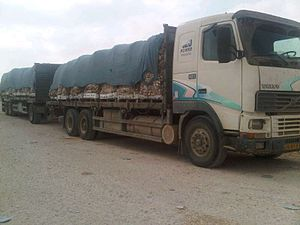 Gaza imports - Truckloads of goods transferred through the Kerem Shalom land crossing, 2011