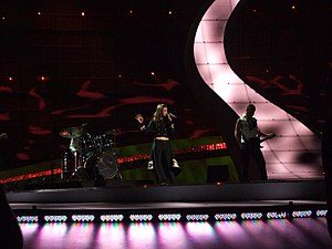 Albania in the Eurovision Song Contest - Image: Flickr proteusbcn Semifinal 2 Eurovision 2008 (29)