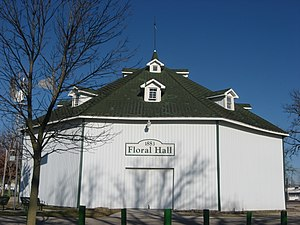 National Register of Historic Places listings in Jay County, Indiana - Image: Floral hall at the Jay County Fairgrounds