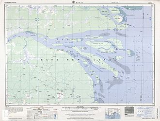 Fly River - Map of Fly River Delta