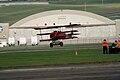 Fokker Dr.I Manfred Richthofen Landing 04 Dawn Patrol NMUSAF 26Sept09 (14597968254).jpg