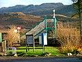 Footbridge at Strathcarron railway station - geograph.org.uk - 1601711.jpg