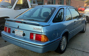 Merkur XR4Ti - 1988-1989 model with the smaller rear wing