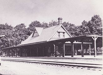 Framingham station - Framingham Centre station around 1900