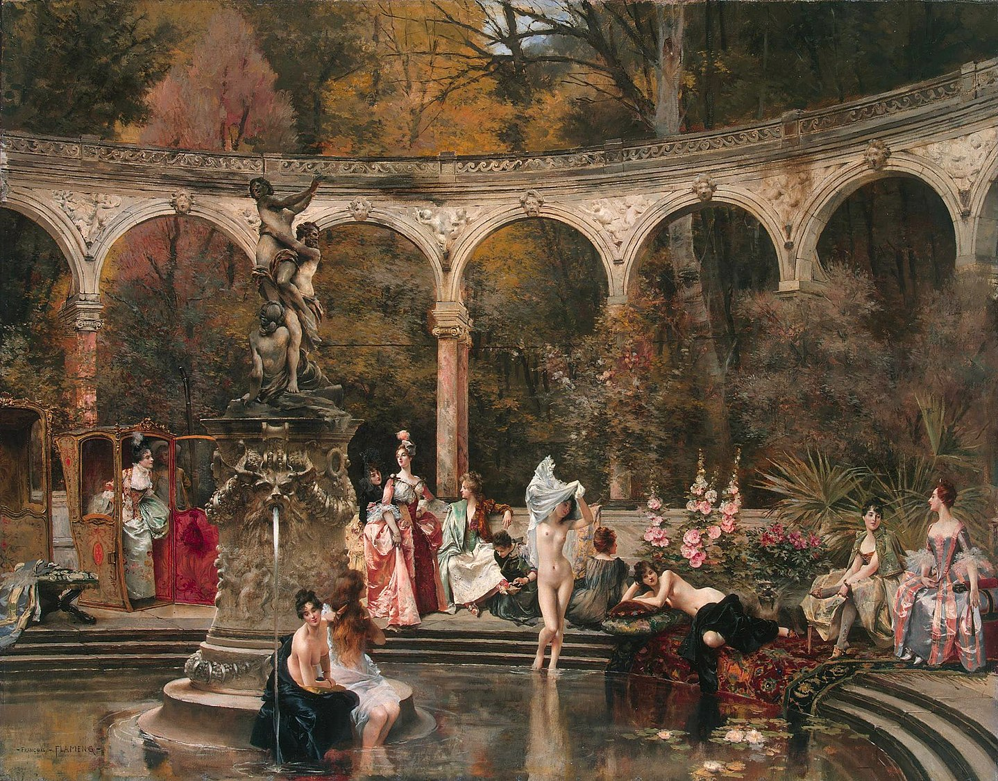 François Flameng - Bathing of Court Ladies in the 18th Century, 1888.jpg