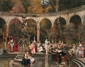 François Flameng - Image: François Flameng Bathing of Court Ladies in the 18th Century, 1888