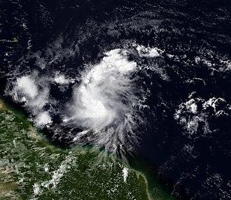 1990 Atlantic hurricane season - Image: Fran 13 August 1990