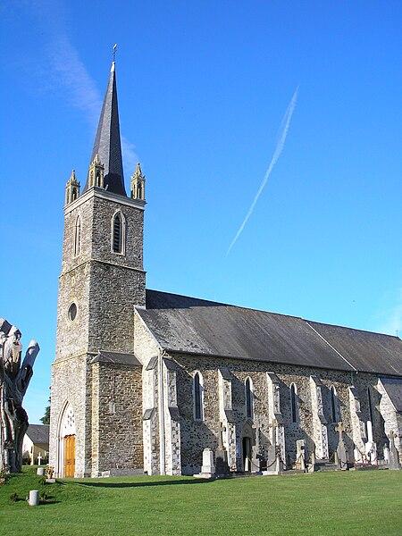 Baudre (Normandie, France). L'église.