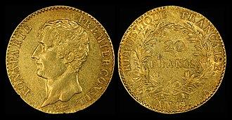Napoléon (coin) - Image: France 1803 04 A 20 Francs