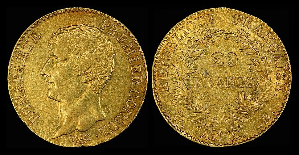 France 1803-04-A 20 Francs