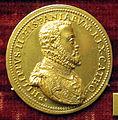Francesco novellino, medaglia di filippo II di spagna, oro.JPG