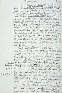 Manuscript page from Frankenstein by Mary Shelley