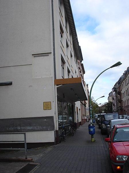 File:Frankfurt-Bockenheim, Juliusstraße 5, Aussenblick auf das am 10.10.1956 eröffnete ehemalige Kino bzw. Lichtspielhaus ALHAMBRA 2.JPG