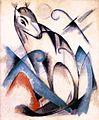 Franz Marc - Sitzendes imaginäres Tier (1913).jpg