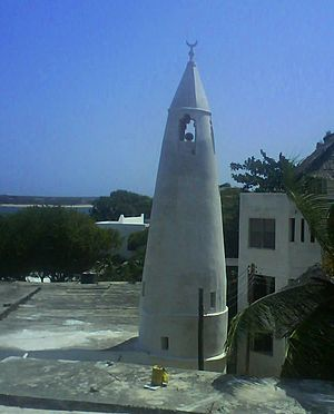 Islam in Kenya - A Mosque, in Lamu Island.
