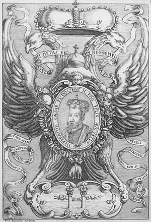 Federico Agnelli - Emperor Rudolf II, Plate 11 of 'The Emperors of the Habsburg Dynasty', 1649-1657, engraving by Frederico Agnelli.