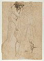 Free Copy of Giotto's Navicella (recto); Copy of Adam in Masaccio's Expulsion from the Garden of Eden, and other Figure Studies (verso) MET DP842210.jpg