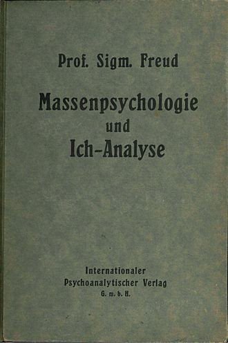 Group Psychology and the Analysis of the Ego - Cover of the first edition of Massenpsychologie und Ich-Analyse