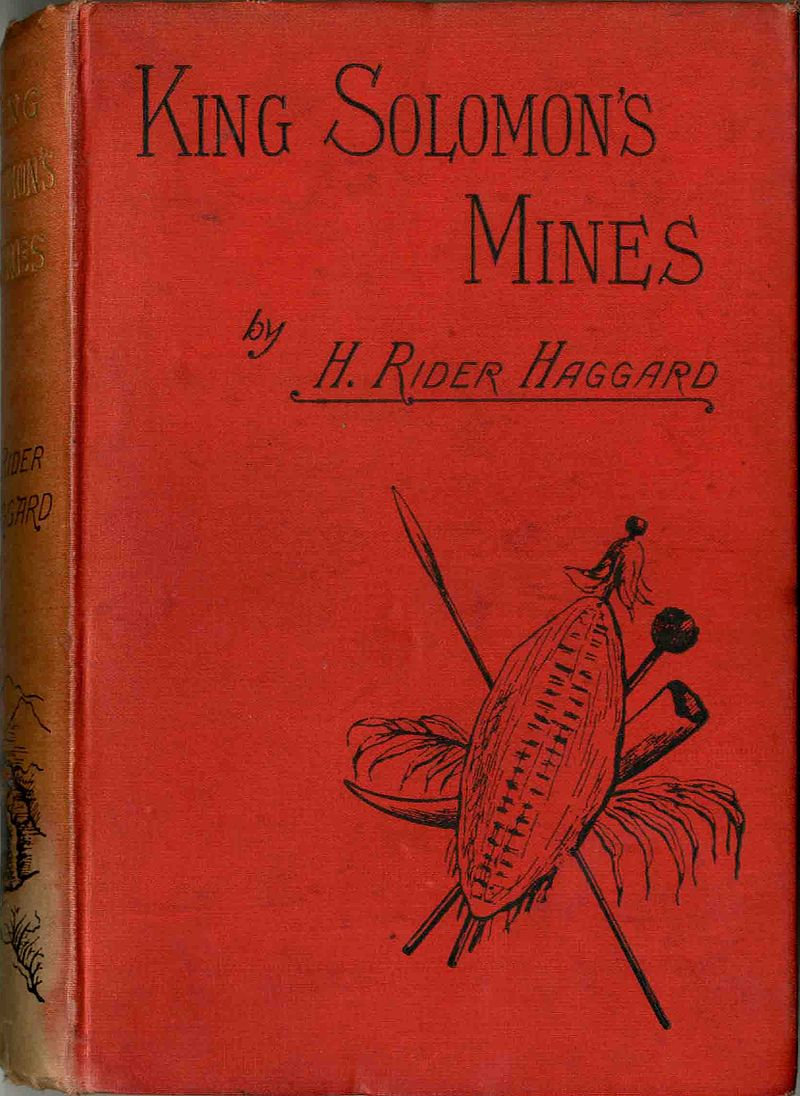 Это изображение имеет пустой атрибут alt; его имя файла - 800px-Front_cover_King_Solomon%27s_Mines_1887.jpg