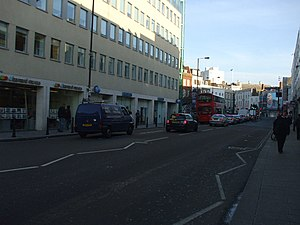 Walham Green - Fulham Broadway, site of the former 'Granville Theatre'.