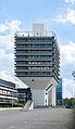 Funnel-shaped building in Frankfurt Niederrad Germany 2014 - 02.jpg