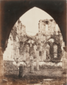 Furness Abbey, Arch looking into the Chapter House.PNG
